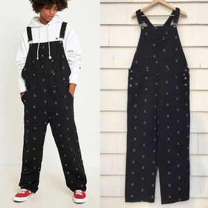New Lazy Oaf Happy Sad Overall Dungarees Unisex/ L